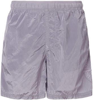 Stone Island Nylon Metal branded swim shorts