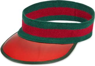 Gucci Vinyl visor with Web