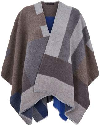 Eileen Fisher Colour Block Poncho
