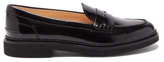 Tod's Leather Penny Loafers - Womens - Black