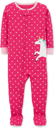 Carter's Baby Girls Unicorn Cotton Footed Pajamas