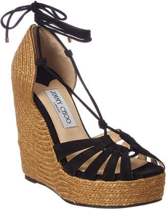 Jimmy Choo Denize 125 Suede Wedge Sandal
