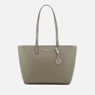 DKNY Women's Bryant Medium Sutton Textured Leather Tote Bag - Soft Clay