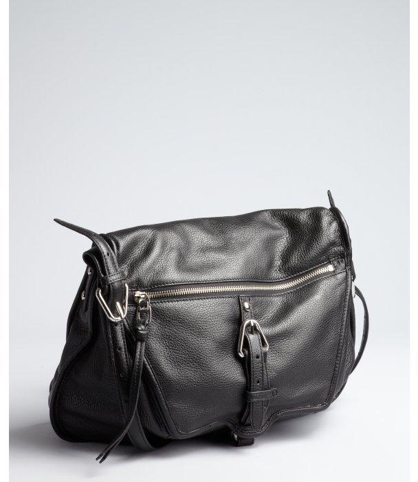 Kooba black leather 'Troi' shoulder bag
