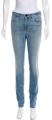 Alexander Wang Denim x Mid-Rise Skinny Jeans