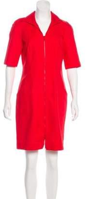 Lafayette 148 Zip-Up Mini Dress