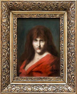 One Kings Lane Vintage 19th-C. Portrait of Jean-Jacques Henner - Antiquarian Art Company Art