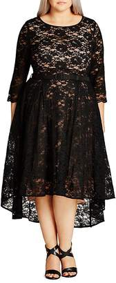 City Chic Lace Lover High Low Dress $149 thestylecure.com