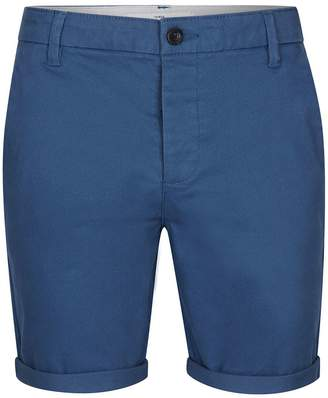 Topman Blue Stretch Skinny Chino Shorts