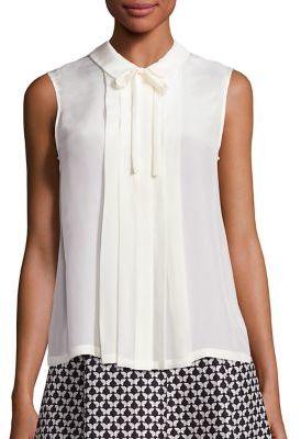 Weekend Max Mara Rosita Silk & Jersey Tie-Neck Blouse