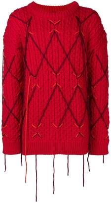 Calvin Klein distressed chunky knit jumper