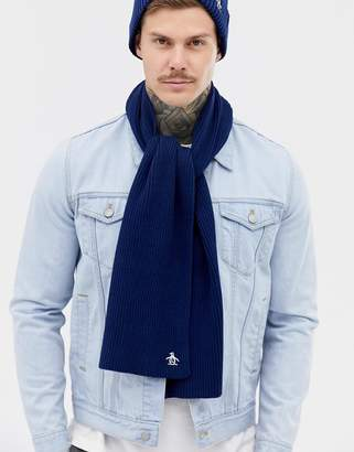 Original Penguin basic rib scarf