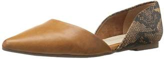 BC Footwear Women's Society Python Pointed Toe Flat