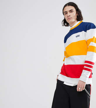 Vans Sweatshirt In Multi Colour Stripe In White Exclusive To Asos