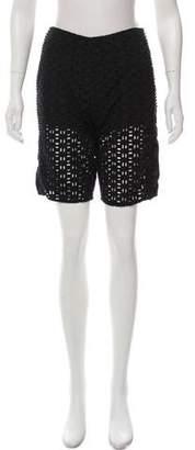 See by Chloe Eyelet Mid-Rise Shorts