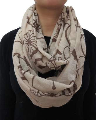 Lina & Lily Vintage Bike Print Infinity Scarf for Women Lightweight