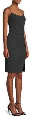 Laundry by Shelli Segal Side Slit Crepe Slip Dress