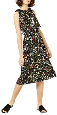 Warehouse Wild Garden Tie Shoulder Dress, Multi