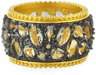 Freida Rothman Rose Dor Cigar Band Ring, Size 6