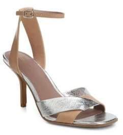 Diane von Furstenberg Fiona Cappuccino Metallic Heels