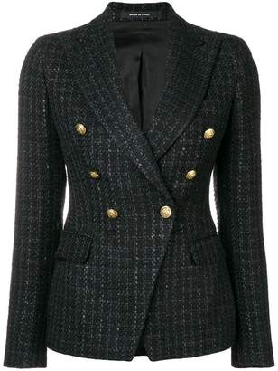 Tagliatore checked print jacket