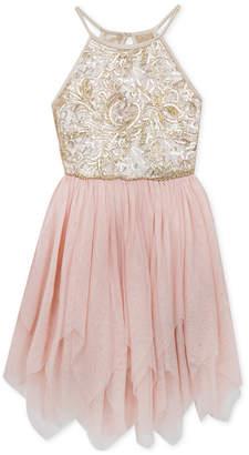 Rare Editions Big Girls Plus Sequin Mesh Fairy Dress