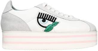 Chiara Ferragni 50mm Faux Suede & Nylon Sneakers