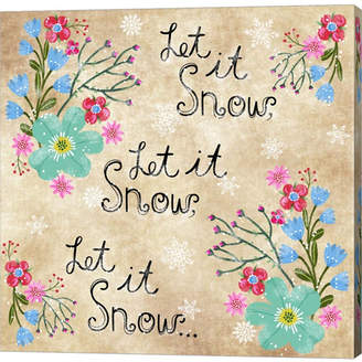 Braun Metaverse Let It Snow By Lisa Powell Canvas Art