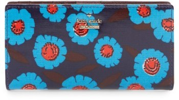Kate Spade Women's Kate Spade New York Tangier - Stacy Floral Wallet - Blue