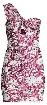 Alexis Women's Livie Asymmetric Floral Jacquard Mini Sheath Dress