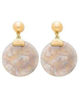 David Jones Large Resin Circle Earring