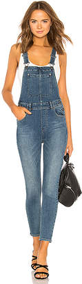 Free People Slim Ankle Denim Overall.