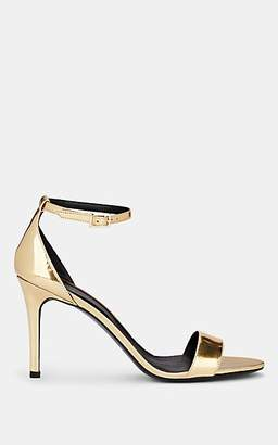Barneys New York Women's Patent Leather Ankle-Strap Sandals - Gold