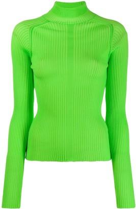 Acne Studios ribbed polo neck sweater