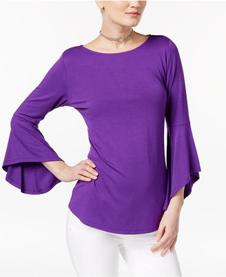 INC International Concepts Bell-Sleeve Top, Only at Macy's $49.50 thestylecure.com