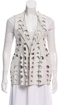Marni Leather Open Front Vest