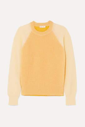 Stine Goya Jack Color-block Open-knit Sweater - Pastel yellow