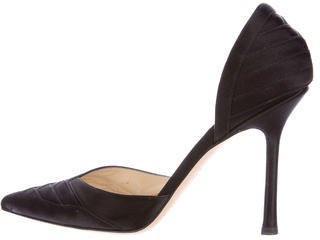 Jimmy Choo Jimmy Choo Satin Pointed-Toe Pumps