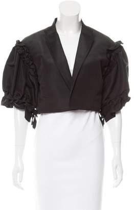 Oscar de la Renta Cropped Silk Jacket