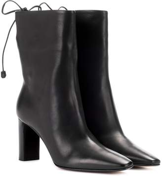The Row Emil leather ankle boots