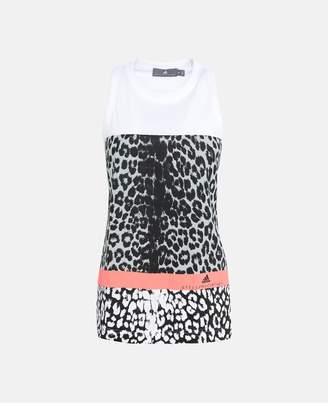 adidas by Stella McCartney White Essentials Leopard Tank