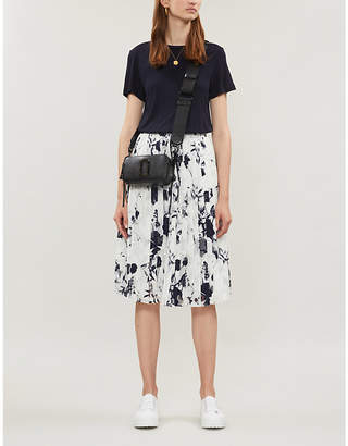 Ted Baker Bluebell Mockable contrast-skirt jersey and crepe dress
