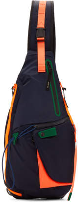 Master-piece Co Master Piece Co Navy Game-Neon Sling Backpack