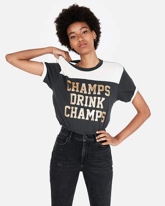 Express One Eleven Champs Ringer Tee