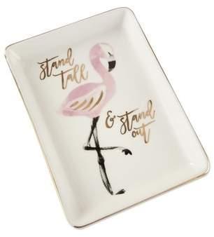 Mercer41 Stacia Flamingo Trinket Dish Accessory Tray (Set of 4)