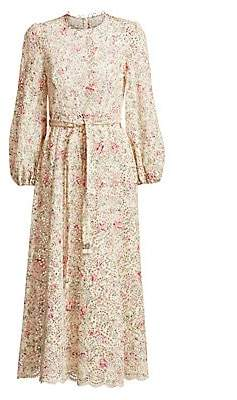 Zimmermann Women's Honour Floral Highneck Cotton Dress