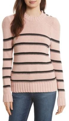 Women's La Vie Rebecca Taylor Stripe Cotton & Merino Wool Sweater