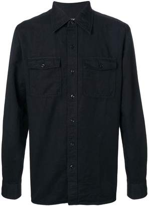 Tom Ford military button shirt
