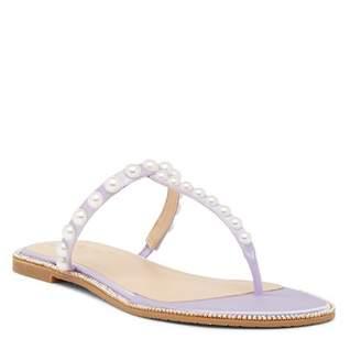 Badgley Mischka Grant Jeweled Satin Sandal