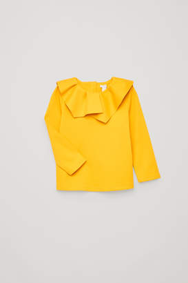 Cos PLEATED-NECK JERSEY TOP